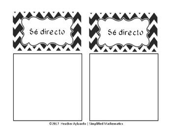 Secondary Behavior Reflection Station (Bilingual)