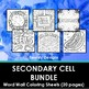 Secondary Cell Bundle Word Wall Coloring Sheets (21 pages)