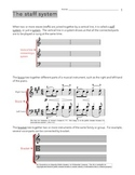 How to Read Choral Music Work Packet - Lesson on STAFF SYSTEMS
