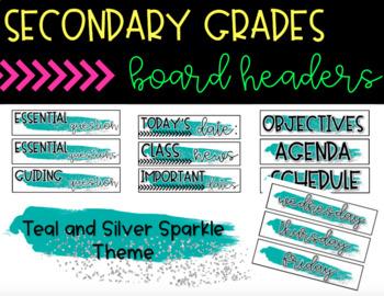 Secondary Classroom Board Headers