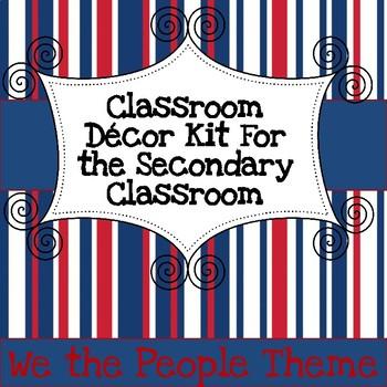 Secondary Classroom Decor Pack--Patriotic Palooza
