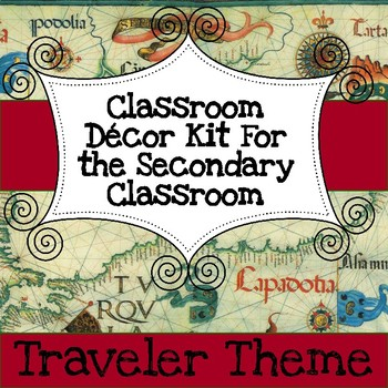 Secondary Classroom Decor Pack--Travel Theme