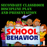 Secondary Classroom Discipline Plan