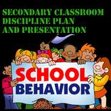 Secondary Classroom Discipline Plan