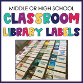 Secondary Classroom Library Labels