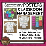 Secondary Classroom Management Posters