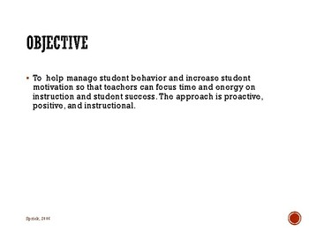 Secondary Classroom Management Strategies: Module 1