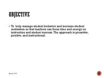 Secondary Classroom Management Strategies: Module 3