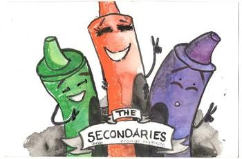 Secondary Colo(u)r Crayon Poster