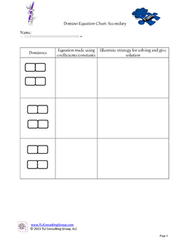Secondary Domino Mathematics Packet