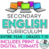 Secondary ELA Curriculum (Google Digital and Traditional P