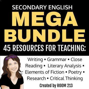 Secondary ELA Mega Bundle: Save over 40%!