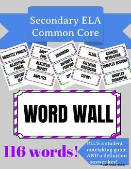 Secondary ELA Word Wall