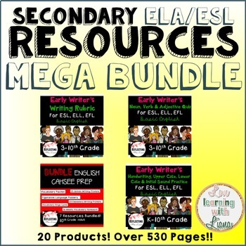 Secondary ELA/ESL Resources MEGA BUNDLE