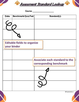 Secondary Editable Teacher Data Binder