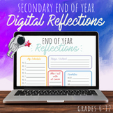 Secondary End of Year Digital Reflection Sheets