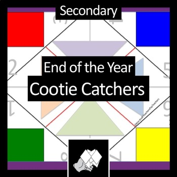 Secondary End of the Year Review Cootie Catcher (Fortune Teller)
