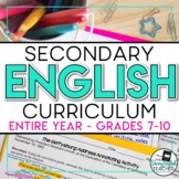 Secondary English Curriculum Bundle: Common Core - Grades 7-10