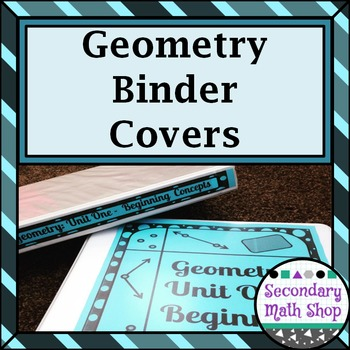 Binder Covers Secondary Geometry (Editable!!!  11 Units!!!)