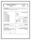 Secondary Grades Syllabus Template