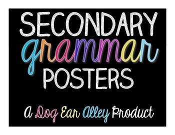 Secondary Grammar Posters