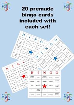 Secondary/High School Physics Bingo Bundle. 7 sets and growing!