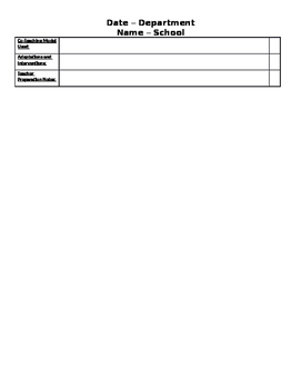 Secondary Lesson Plan Template