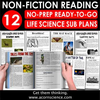 Secondary Life Science Sub Plan Bundle