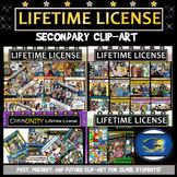 Secondary  Lifetime License! Clip-Art for  Gr.4-5, Middle