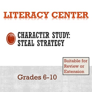 Secondary Literacy Center: Character Analysis (STEAL Strategy)