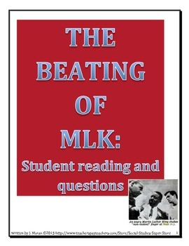 Secondary-Living the Dream: The beating of MLK
