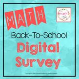 Secondary Math Back To School Survey