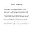 Secondary Math Portfolio (Introduction)
