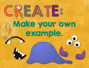 Secondary Math Terms & Definitions - Fun Monster Math Themed Poster - CREATE