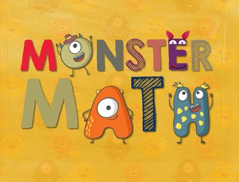 Secondary Math Terms & Definitions - Fun Monster Math Themed Poster - HEADER