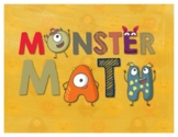 Secondary Math Terms & Definitions - Set of 25 Fun Monster