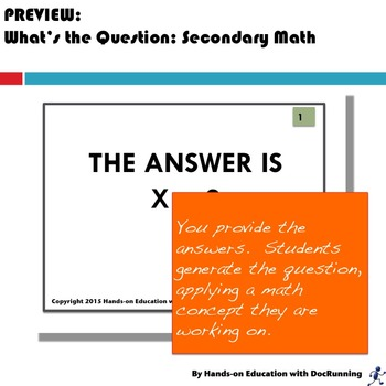 Secondary Math: What's the Question?