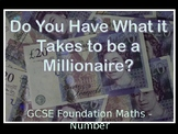 Secondary Maths Number Millionaire