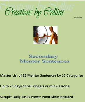 Secondary Mentor Sentences