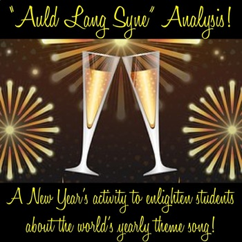 """New Year's Poetry Analysis Activity with """"Auld Lang Syne!"""""""