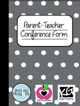 Secondary Parent-Teacher Conference Form