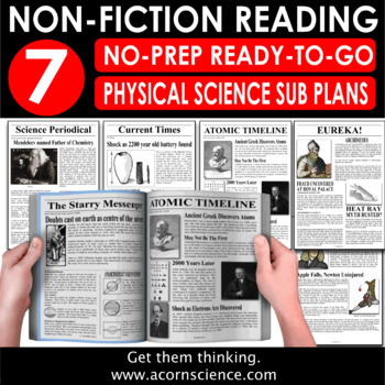 Secondary Physical Science Sub Plan Bundle