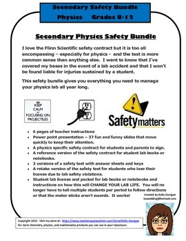 Secondary Physics Safety Bundle