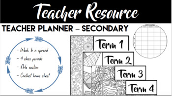 Secondary Planner - week to a spread - 4 Sessions