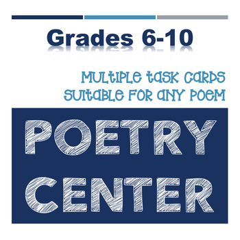 Secondary Poetry Center Using Task Cards
