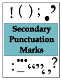 Secondary Punctuation Marks - Poster Set!