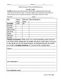 Secondary Reading Log Homework