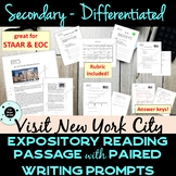Secondary Reading Passage & Writing Prompt - STAAR - PARCC