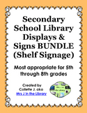 Secondary School Library Displays & Signs (Shelf Signage)