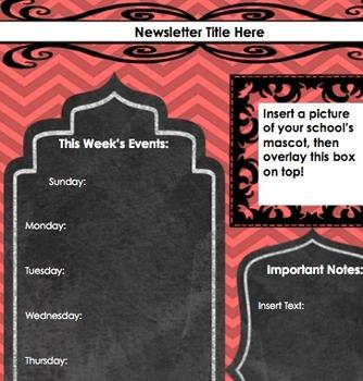 Secondary School Newsletter-Red